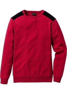 Пуловер Slim Fit (серый меланж/черный) Bonprix