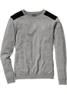 Пуловер Slim Fit (темно-красный/черный) Bonprix