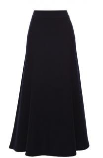 Кашемировая расклешенная юбка-миди Chloé