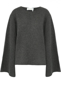 Кашемировый пуловер с круглым вырезом и расклешенными рукавами Chloé