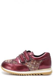 Комбинированные кроссовки на рифленой подошве Clarys