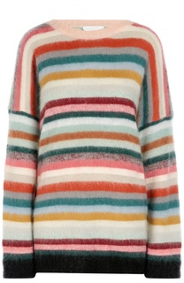 Пуловер свободного кроя с круглым вырезом и разноцветными полосками Chloé