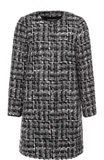 Буклированное пальто прямого кроя с круглым вырезом Dolce & Gabbana