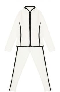 Спортивный костюм с контрастной окантовкой Moncler Enfant
