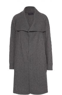 Удлиненный кардиган фактурной вязки с накладными карманами Polo Ralph Lauren