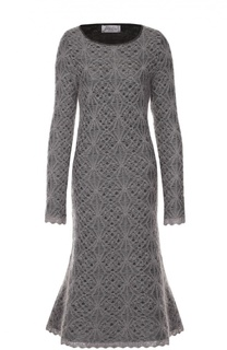 Вязаное кружевное платье с круглым вырезом Tak.Ori