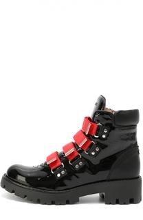 Высокие ботинки из лаковой кожи Dsquared2