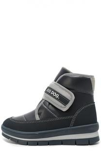 Утепленные ботинки с застежкой велькро Jog Dog