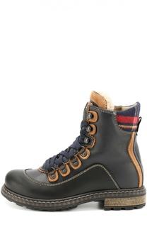 Высокие кожаные ботинки Dsquared2