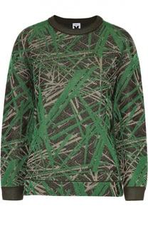 Пуловер свободного кроя с металлизированной отделкой M Missoni