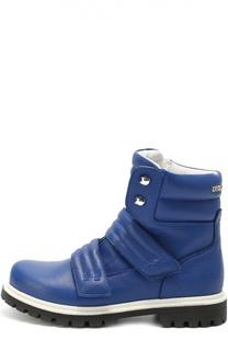 Высокие кожаные ботинки с застежками велькро Dsquared2