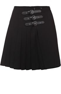 Мини-юбка в складку с декоративными застежками MCQ