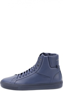 Высокие кожаные кеды на шнуровке Givenchy