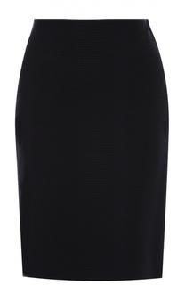 Облегающая мини-юбка с фактурной отделкой HUGO