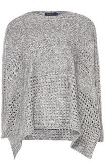 Вязаный пуловер свободного кроя с разрезами Polo Ralph Lauren