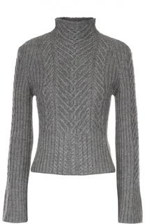 Укороченный пуловер с расклешенными рукавами и высоким воротником Polo Ralph Lauren