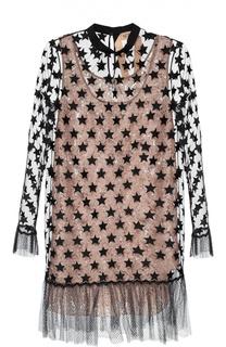 Полупрозрачное платье с отделкой в виде звезд No. 21
