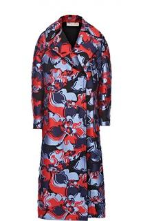 Пальто свободного кроя с ярким принтом Emilio Pucci