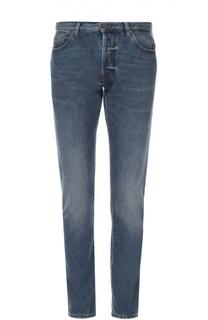 Зауженные джинсы с потертостями Valentino