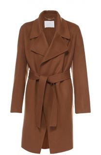 Пальто с поясом и широкими лацканами HUGO