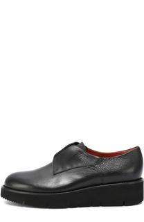 Кожаные ботинки на толстой подошве Santoni