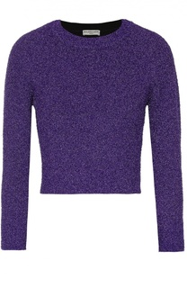 Укороченный пуловер с круглым вырезом и металлизированной отделкой Balenciaga