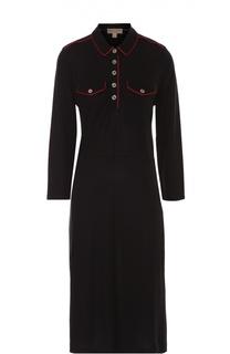 Платье-рубашка прямого кроя с контрастной отделкой Burberry Brit