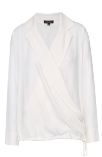 Блуза с запахом и V-образным вырезом Escada