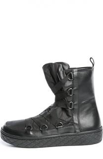 Комбинированные полусапоги на шнуровке Moncler