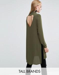 Платье-рубашка с разрезами Vero Moda Tall - Зеленый
