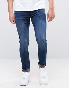 Темно-синие супероблегающие джинсы Burton Menswear - Синий