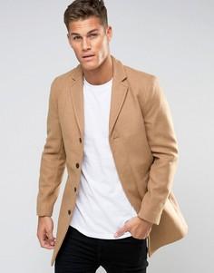 Пальто Selected Homme - Бежевый