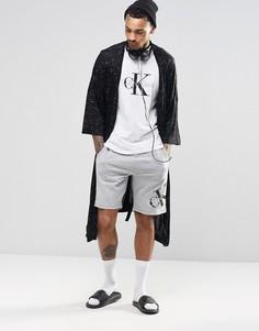 Шорты слим для дома с логотипом Calvin Klein - Серый
