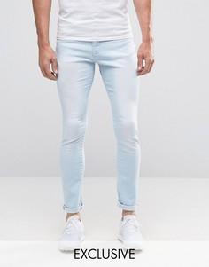 Выбеленные потертые джинсы Brooklyn Supply Co Hunters - Синий