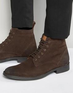 Коричневые замшевые ботинки со шнуровкой Dead Vintage - Коричневый