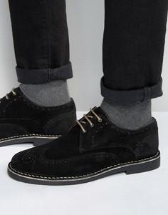 Черные замшевые броги Dead Vintage - Черный