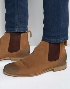 Светло-коричневые замшевые ботинки челси Dead Vintage - Рыжий