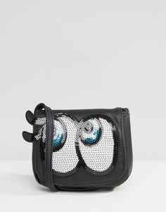 Сумка через плечо с глазами Yoki Fashion - Черный