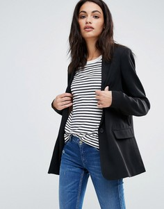 Maison Scotch Classic Long Blazer - Синий