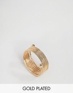Позолоченное кольцо с дизайном в несколько оборотов Nylon - Золотой