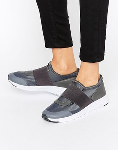 Кроссовки на резинке Missguided - Серый