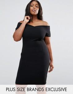 Платье с вырезом лодочкой Paper Dolls Plus - Черный
