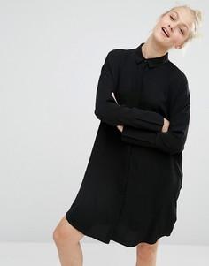 Oversize платье-рубашка Monki - Черный