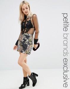 Жаккардовая мини-юбка Fashion Union Petite - Мульти