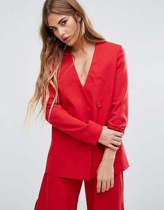 Комбинируемый асимметричный блейзер из комплекта Fashion Union - Красный