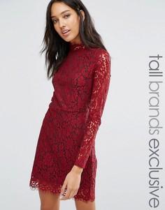 Кружевное платье-футляр Fashion Union Tall - Красный