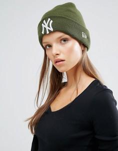 Шапка-бини с логотипом New Era NY - Зеленый