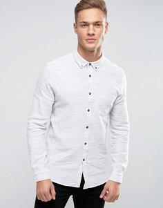 Меланжевая рубашка слим Burton Menswear - Кремовый
