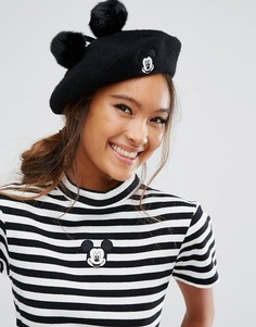 Lazy Oaf x Disney Mickey Mouse Beret - Черный