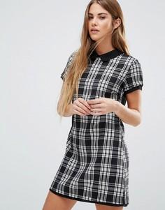 Цельнокройное платье в клетку Wal G - Мульти